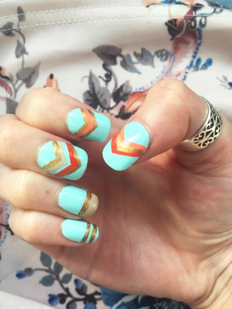 Summer Chevron Nails