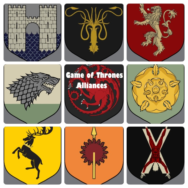 Game Of Thrones House Alliances Ginger Fox